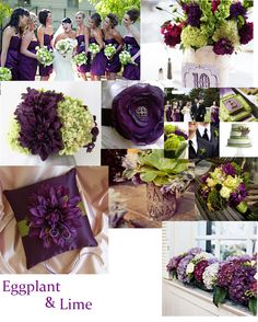 Eggplant & Lime ~ My Wedding Colors! :)
