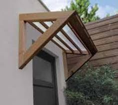 Pergola Connected To House Refferal: 1653170593 Front Door Awning, Door Overhang, Diy Awning, Balustrades, Shade House, Exterior Doors, Diy Exterior, Exterior Stairs, Craftsman Exterior