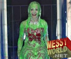 GUNGE GIRLS | Messyworld.net - Gunge, Slime & Pie Messy Galleries Best Cleaning Products, Slime, Galleries, Aurora Sleeping Beauty, Angel, Thoughts, Board, Girls, Fun