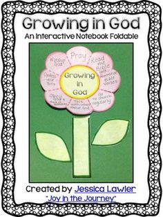 """As a Christian teacher, it is my deep desire to see my students grow in their faith and their relationship with God. This fun and interactive foldable is a great discussion starter for what it takes to grow in your Christian walk. It also provides some individual accountability as the students """"rate"""" how well they think they are doing in each category."""