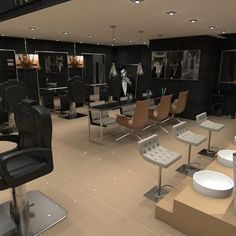 Barber Shop  Project by Mafo design  Sketchup + V-ray