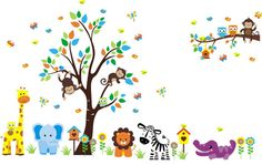 Safari and Jungle Themed Wall Decals - https://www.etsy.com/shop/NurseryDecals4You