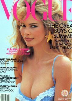 Claudia Schiffer. She got so much attention, because of looking like Brigit Bardot.