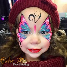 "310 Likes, 15 Comments - Vanessa (@colormefacepainting) on Instagram: ""Another beautiful face at Winter Fest OC @winterfestoc Come get your face painted at The Hangar.…"""
