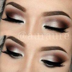 Classic brown neutral blown out smokey eye.