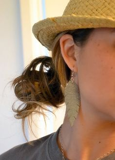 How to Make Leather Feather Earrings - craft - Little Miss Momma
