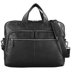 """Notebooktaschen - STILORD """"Lias"""" Businesstasche Leder Schwarz groß s - ein Designerstück von STILORD bei DaWanda"""