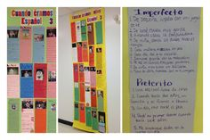 Preterite Vs. Imperfect  This is a project I like to use at the beginning of Spanish 3 to review preterite and imperfect.  I ask students to write 10 sentence in the imperfect and 5 in preterite. Once students have their sentences they bring a baby picture and we display our final products in the hallway.