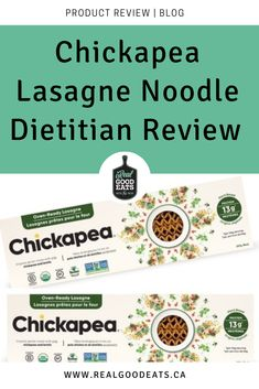 Read this before you buy! Dietitian review of nutrition, ingredients, flavour, and more to help you decide if Chickapea lasagne noodles are worth the money. #dietitian #productreview #chickpea #pasta #healthyeating #healthymealideas Dietitian, Food Hacks, Noodles, Healthy Eating, Pasta, Nutrition, Healthy Recipes, Blog, Lasagna