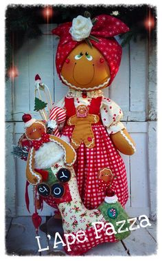 Cartamodelli ginger Natale 2015 : Gingerina Isotta fermaporte