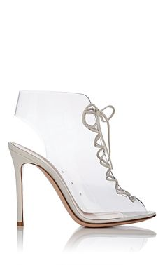 c7e3bfbec79 Gianvito Rossi Pvc Lace-Up Ankle Boots - 11.5 Lace Up Ankle Boots