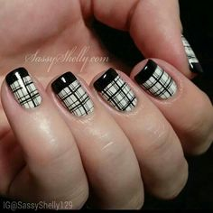 Plaid Nails....totally should do this