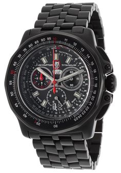 Luminox Men's F-22 Raptor 9270 Series Chrono Black Titanium and Dial from World of Watches
