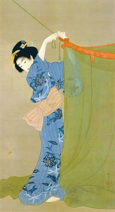 Shoen Uemura (Japanese, 1875-1949). Uemura Shōen was the pseudonym of an important woman artist in Meiji, Taishō and early Shōwa period Japanese painting. Her real name was Uemura Tsune. (Wikipedia)
