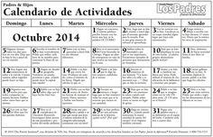 calendario escuela primaria octubre 2014