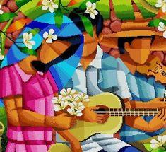Items similar to Three Marias of Spring -Filipino Art -Cross Stitch PDF Pattern on Etsy Cross Stitch Designs, Cross Stitch Patterns, Cross Stitches, Arte Filipino, Philippines Culture, Cross Art, Arte Popular, Color Patterns, Etsy