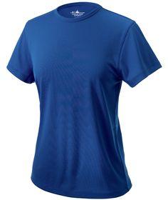 Charles River Apparel Style 2830 Women's Pique Wicking Tee - SweatshirtStation.com #bluetshirt #wickingtshirt #ladiesshirt