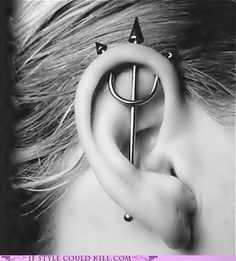 Trident piercing - kinda cool