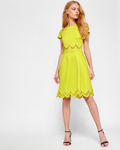 119e667a5299 REHANNA Embroidered skater dress  TedToToe Ted Baker Outlet