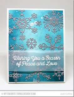 Snowfall of Blessings Stamp Set, Stylish Snowflakes Die-namics - Jodi Collins #mftstamps