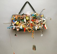 Lisa Kokin | Mixed Media Sculpture with Recycled Materials - It's In Here Somewhere