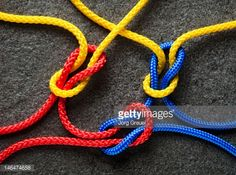 Stock Photo : Intertwined multicolored ropes