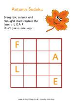 Autumn/Fall Puzzles and Mazes
