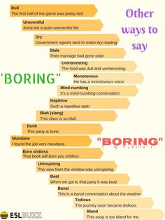 """Do You Know How to Say """"Boring"""", """"Unusual"""", """"Attractive"""", """"Peaceful"""" in Different Ways?"""
