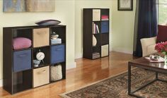 ClosetMaid Cubeicals create family room, or any room, storage where there wasn't any.