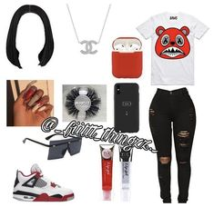 Baddie Outfits Casual, Boujee Outfits, Cute Swag Outfits, Teen Fashion Outfits, Trendy Outfits, School Outfits, 8th Grade Outfits, Bodysuit And Jeans, Girls Wardrobe