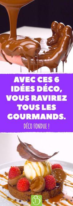 Avec ces 6 idées déco, vous ravirez tous les gourmands. Déco fondue ! #bonap #recette #chocolat #desserts #déco #patisserie