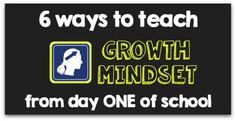 Back to school tips for teaching growth mindset