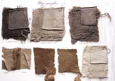https://flic.kr/p/G9Yan | Walnut + iron | Natural dye experiments, 100% walnut bark with an afterbath of 2% iron.