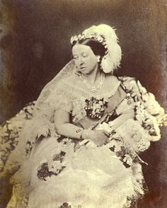 Queen Victoria wearing her wedding dress