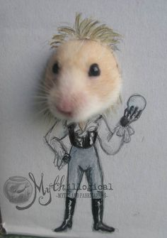 Hamster Dresses Up in Cardboard Cutouts – Part 2