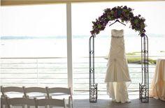 awesome pre-ceremony photo! Sunset Deck Ceremy || Jen + Ashley Photography