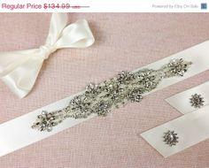 15 OFF EMANULELLE  Bridal sash  Bridal belt  by GarterQueen, $114.74