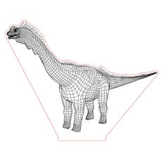 Brachiosaurus illusion lamp plan vector file for CNC - 3d Illusion Art, Laser Cut Lamps, Cnc, Led Night Light, Vector File, Plexus Products, Metal Art, Garden Art, Laser Engraving