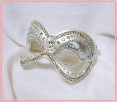 "Rhinestone Masquerade Mask - ""Crystal Maiden"". $165.00, via Etsy."