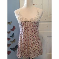 Floral Pearl Beaded Tank Top Measurements - Bust 13in / Length 16in Threads Tops Tank Tops