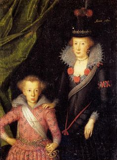 Queen Anne Cathrine and her eldest son, Christian, the Prince Elect. Painted by Jacob van Doordt, 1611. Copyright: Rosenborg Castle / Rosenborg Slot