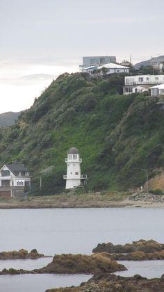 Slept in a lighthouse. Island bay, Wellington, New Zealand. Oct 2012.