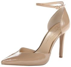 #sale Jessica Simpson Women's Cirrus Dress Pump,Nude Patent,8.5 M US