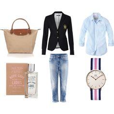 Preppy style #jackwills #longchamp #GANT www.danielwellington.com