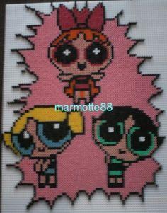 The Powerpuff Girls hama perler by marmotte 88130