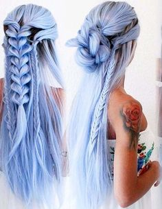 81 Most Gorgeous Mermaid Hairstyle Design and Hair Color for Prom and Halloween . - 81 Most Gorgeous Mermaid Hairstyle Design and Hair Color for Prom and Halloween Party – Page # - Long Braided Hairstyles, Trendy Hairstyles, Mermaid Hairstyles, Short Haircuts, Blue Hairstyles, Layered Hairstyles, Hairstyles 2016, Fashion Hairstyles, Hairstyles Videos
