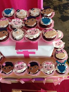 Pinklady Creations 's Birthday / Doc McStuffins - Photo Gallery at Catch My Party Birthday Cake Girls, 2nd Birthday Parties, Doc Mcstuffins Birthday Party, Second Birthday Ideas, Fondant Cupcake Toppers, Cute Cupcakes, Party Planning, Party Time, Birthdays