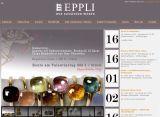 Neudesign Homepage für Auktionshaus Eppli. Benutzt die Auktionssoftware Auktion:NG von onSite.org internet services und Contao als CMS in Parallelinstallation.