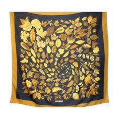 hermès, feuilles d'automne, Foulard, châle, scarf, tuch, cachemire et soie, 140cm