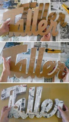 A, B, C, D... Me gustan todas!!! Un DIY para hacer letras y más letras!!!